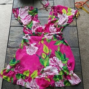 Betsey Johnson Intimates Pink Floral Sheer Dress